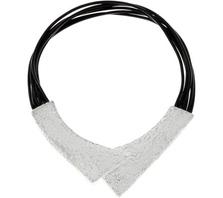 Simon Sebbag Sterling Silver & Leather Magnetic Necklace