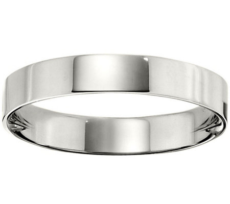 Women's Platinum 4mm Flat Wedding Band