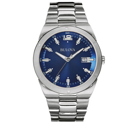 Bulova Men's Classic Analog Blue Dial BraceletWatch