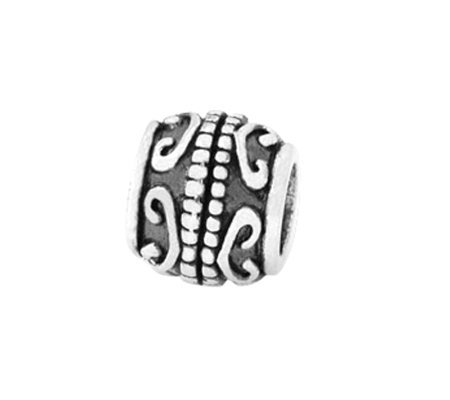 Prerogatives Sterling Scrolls Bali Bead