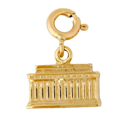 14K Yellow Gold Lincoln Memorial