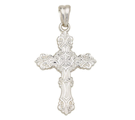 Sterling Classic Polished Cross Pendant