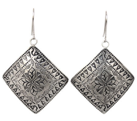 "Novica Artisan Crafted Sterling ""Hill Tribe Sheild"" Earrings"