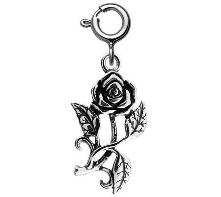 Sterling Rose Charm