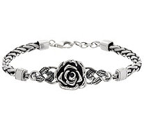 Or Paz Sterling Silver Rose Spiga Bracelet 21.0g - J349534