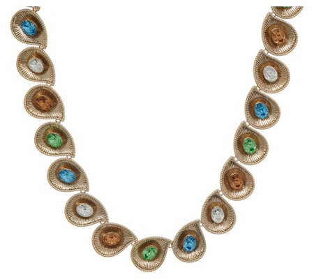 Grace Kelly Collection Swirl Simulated Gemstone Necklace