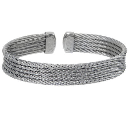 Alor Cable Stainless Steel 5 Row Flexible Cuff