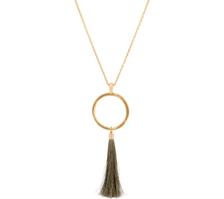 Belle by Kim Gravel EmBELLEish Goldtone Tassel Necklace