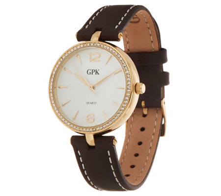 Grace Kelly Collection Boyfriend Leather Strap Watch
