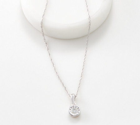 Affinity Sterling Silver Miracle Plated Diamond Necklace