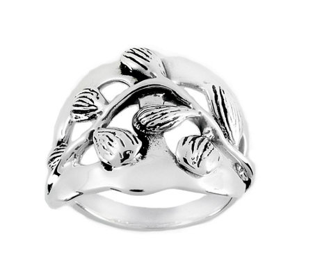 Hagit Sterling Branch & Leaf Ring
