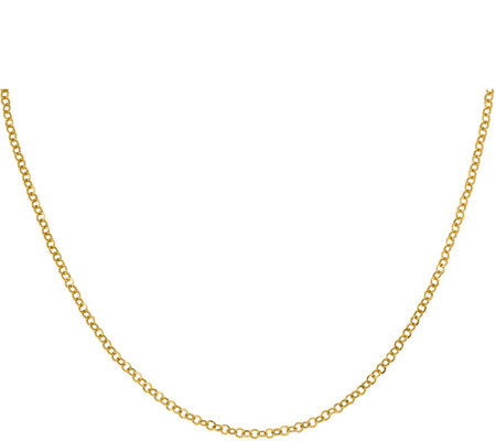14K Round Flat Link Necklace, 2.1g