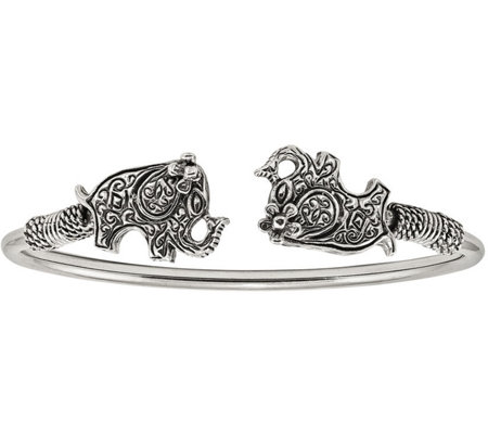 Sterling Elephant Cuff by Silver Style