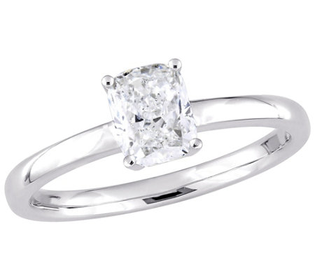 Affinity 14k Gold 1 0 Cttw Cushion Cut Diamondsolitaire Ring