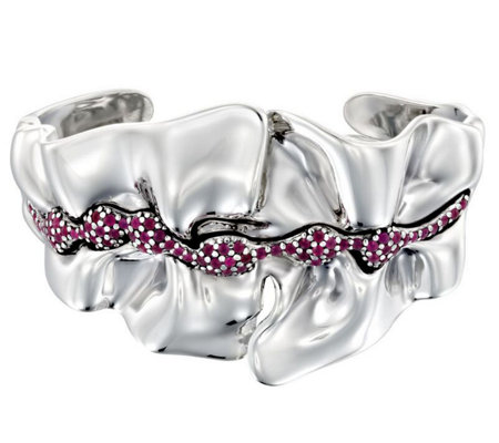 Hagit Sterling Ruby Sculpted Cuff