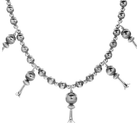 American West Sterling Squash Blossom Necklace