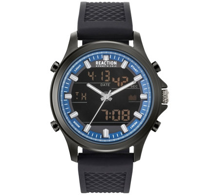 Kenneth Cole Reaction Men S Blue Accent Watch