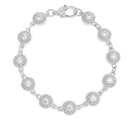 Judith Ripka Sterling Diamonique Dew Drop Bracelet