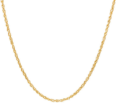 "EternaGold 20"" Diamond Cut Perfectina Necklace 14K Gold, 2.0g"