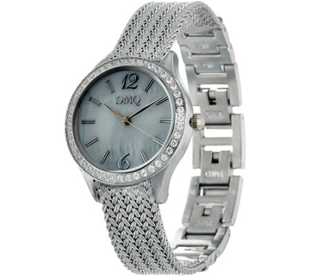 Diamonique Wheat Strap Watch
