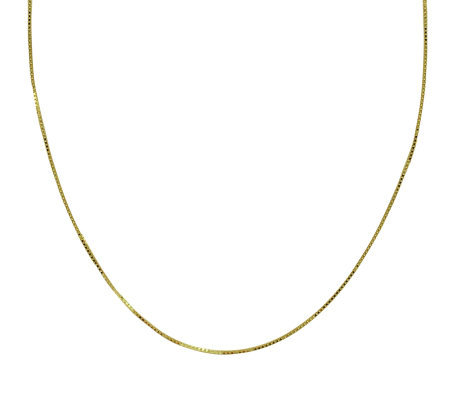 "EternaGold 26"" 053 Solid Box Chain Necklace, 14 K Gold, 2.8g"