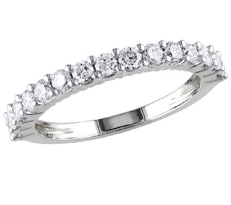 Diamond Band Ring, 3/4cttw, 14K White Gold, byAffinity