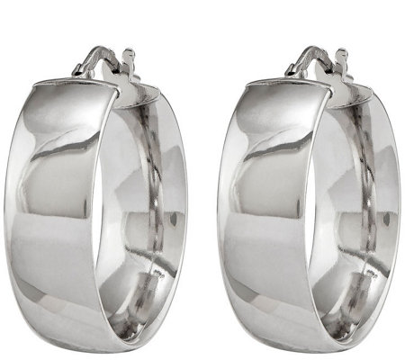 Sterling Silver Polished Hoop Earrings by Silver Style