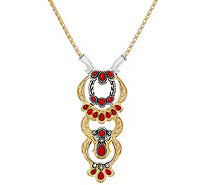 "American West Luna Gemstone Sterling Brass Changeable 18"" Necklace - J349135"