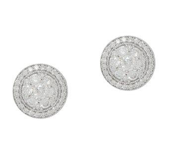 Diamond Cer Stud Earrings 1 00cttw 14k By Affinity J354435