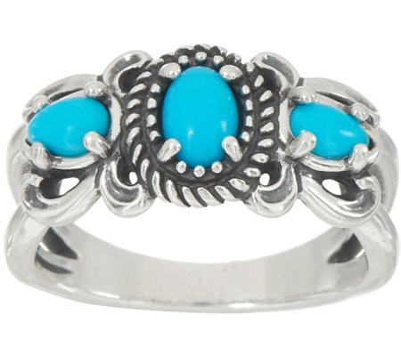 American West Sleeping Beauty Turquoise Sterling Silver Ring