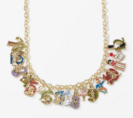 Kirks Folly 12 Days Of Christmas Magic Charm Necklace