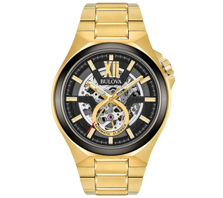 Bulova Men's Automatic Goldtone Bracelet Watch