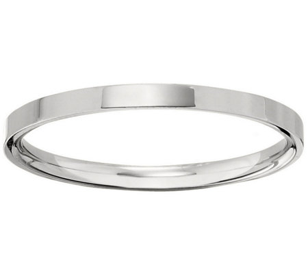 Men's 18K White Gold 2.5mm Flat Wedding Band