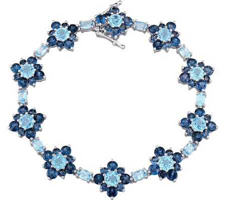 Laura Ashley Sterling 22.20 cttw Blue Topaz Bracelet