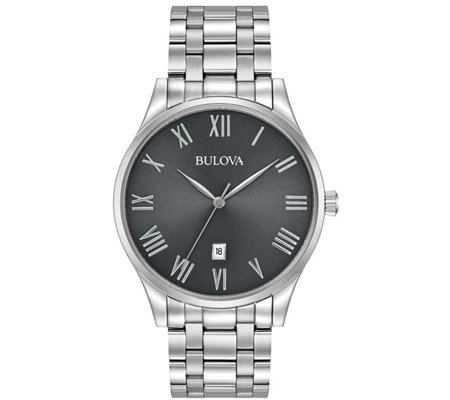Bulova Men's Stainless Steel Classic Bracelet Watch