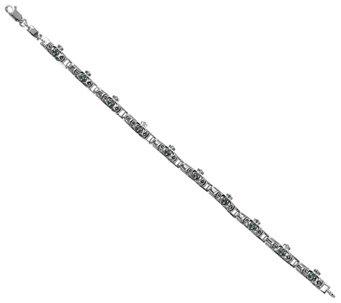 Suspicion Sterling Emerald & Marcasite CladdaghLink Bracelet - J385135