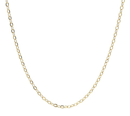 Italian Gold Flat Rolo Link 20 Chain Necklace 14k 1 7g