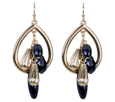 Belle by Kim Gravel EmBELLEish Tear Drop Multi-Charm Earrings