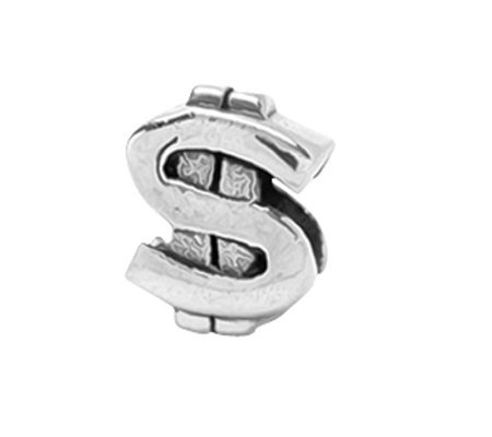 Prerogatives Sterling Dollar Sign Bead