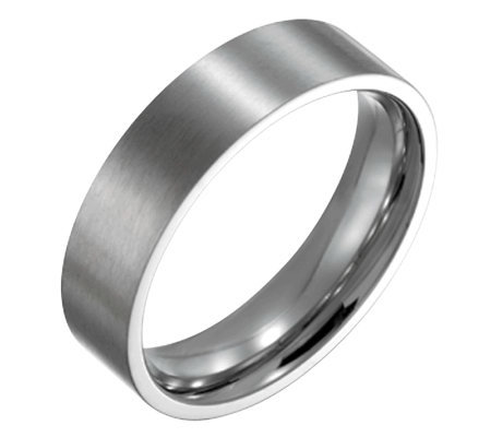 Forza Men's 6mm Steel Flat Brushed Ring