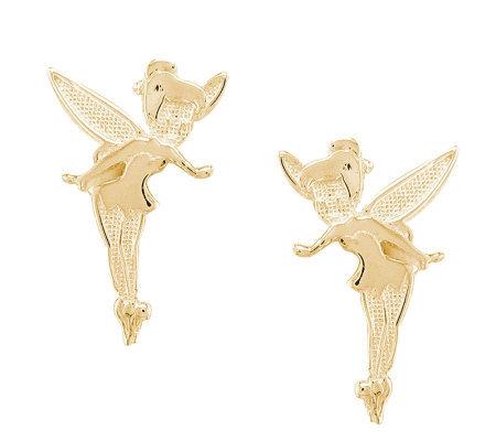 Disney Tinker Bell Stud Earrings 14k Gold