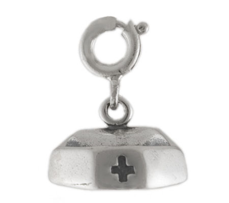 Sterling Nurse's Hat Charm