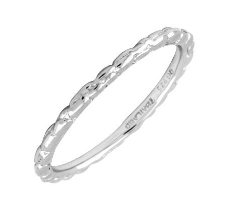 Simply Stacks Sterling Silver 1.5mm Ring - Twisted