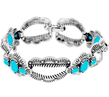 """As Is"" American West Sterling Silver Sleeping Beauty Turq. Bracelet"