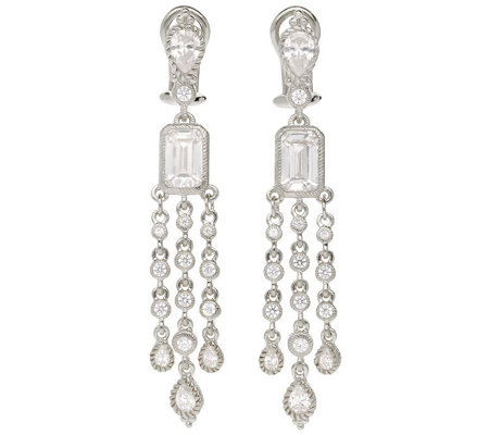 Judith Ripka Sterling Diamonique Dangle Earrings