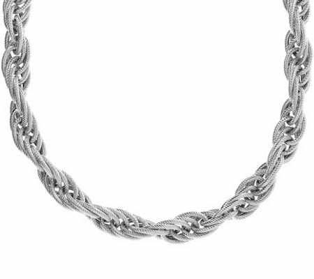 "Judith Ripka Verona Sterling 20"" Rope Chain Necklace, 76.0g"