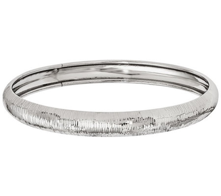 Italian Silver Ribbed Bangle, 9.7g