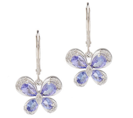 As Is Sterling 1 50 Ct Tanzanite Lever Back Earrings