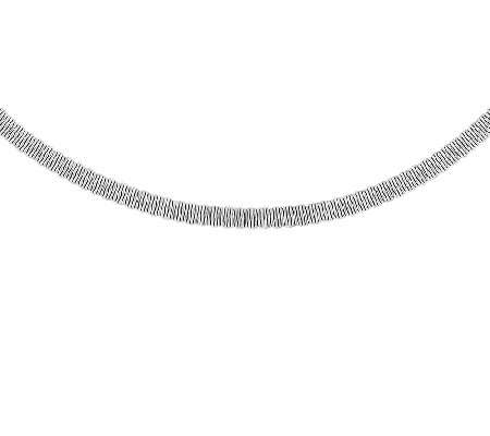 "Stainless Steel Polished & Textured 17"" Necklace"