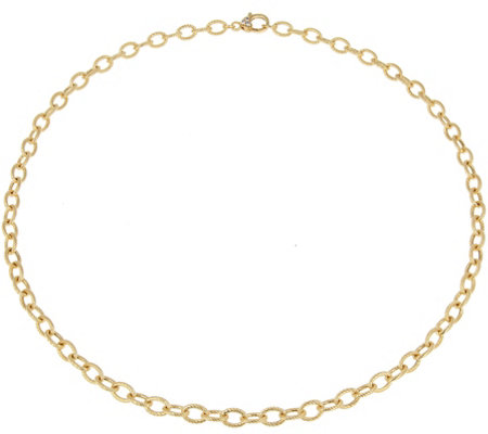 Judith Ripka Verona 14k Clad Oval Link 24 Necklace 18 0g